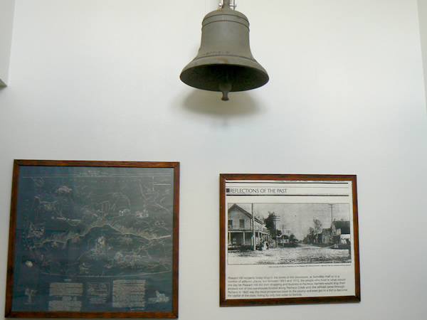 The historic school bell is a part of Pacheco's history.